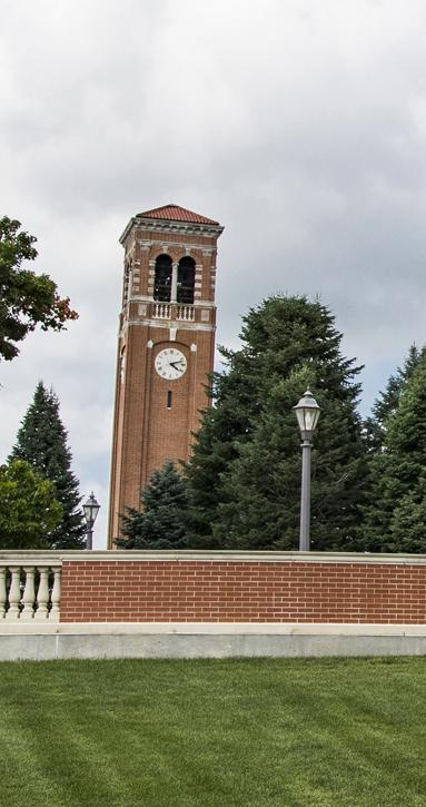 campanile and sign